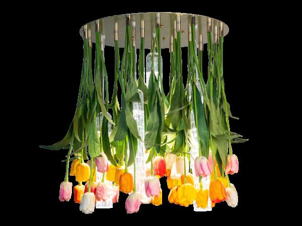 luxury floreal lamp